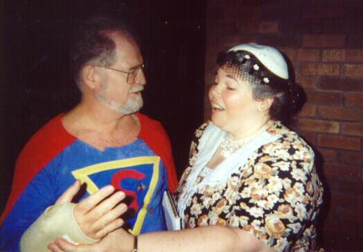 """Superman and Lois Lane"" at Motor City Comic Con, Novi, Mi, May 2000., aka. Larry Niven and fellow List Member Carol Phillips"